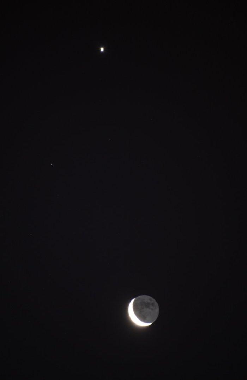 Luna y Venus 30-01-2011