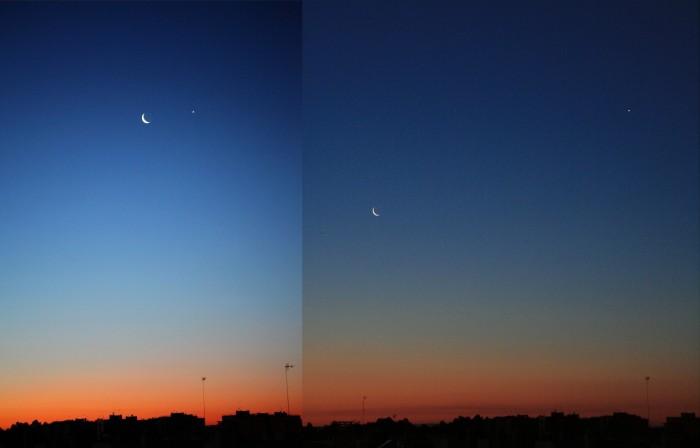 Luna y Venus, 1 y 2 de marzo de 2011