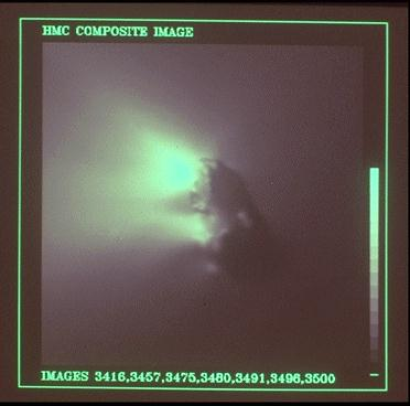 El cometa Halley visto por la sonda Giotto