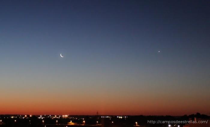 Luna y Venus, 01-04-2011