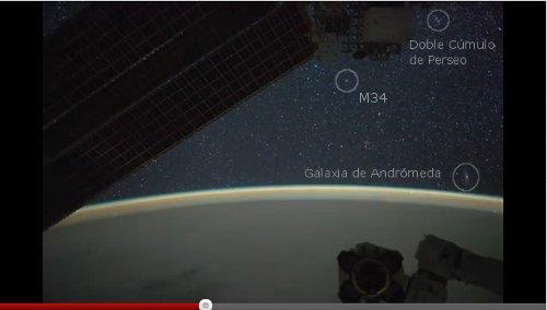 M31, DobleCumulo y M34 desde la ISS