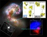 Supercúmulo de estrellas en las Galaxias Antena