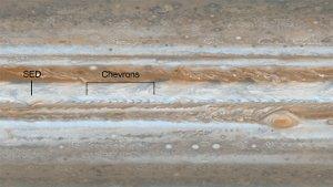 Olas en las bandas de Jupiter