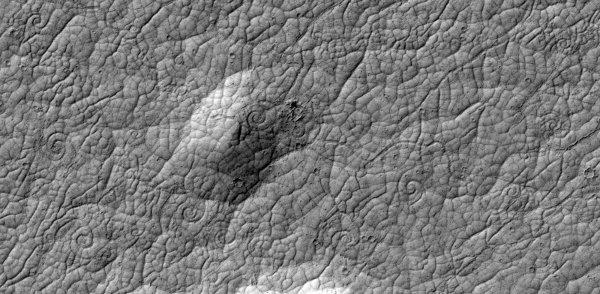 Remolinos de lava en Marte