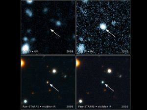 Estrella destrozada por agujero negro