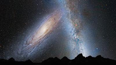 M31 y Vía Láctea en 3,75 miles de millones de años