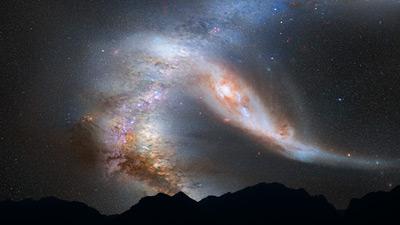M31 y Vía Láctea en 4 mil millones de años